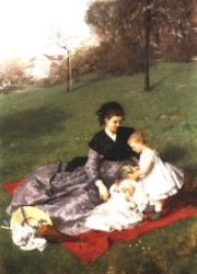 Anya és gyermeke I. 1868-69 Olaj, vászon, 137 x 94 cm Magántulajdon, New York