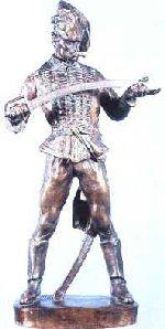 Stróbl: Hadik hussar checking his sabre