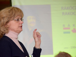 Dr. Zsuzsa Papp Aykler at the Hungarian Museum