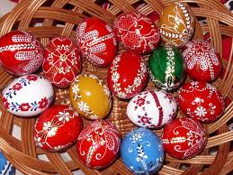 Hungarian decorated Easter eggs