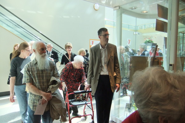 Guests entering Museum after ribbon cutting