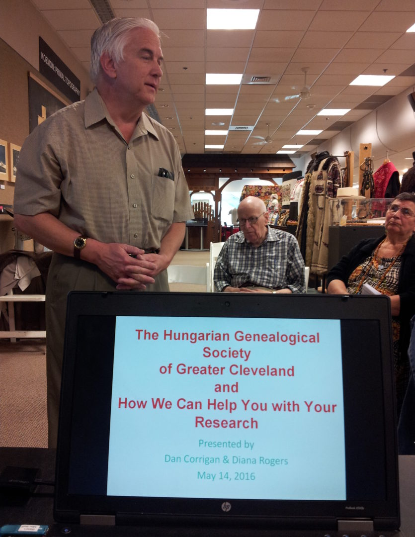 May's program on the Hungarian Genealogical Society of Greater Cleveland